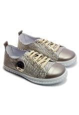 PJ® Pantofi sport piele Tag Auriu